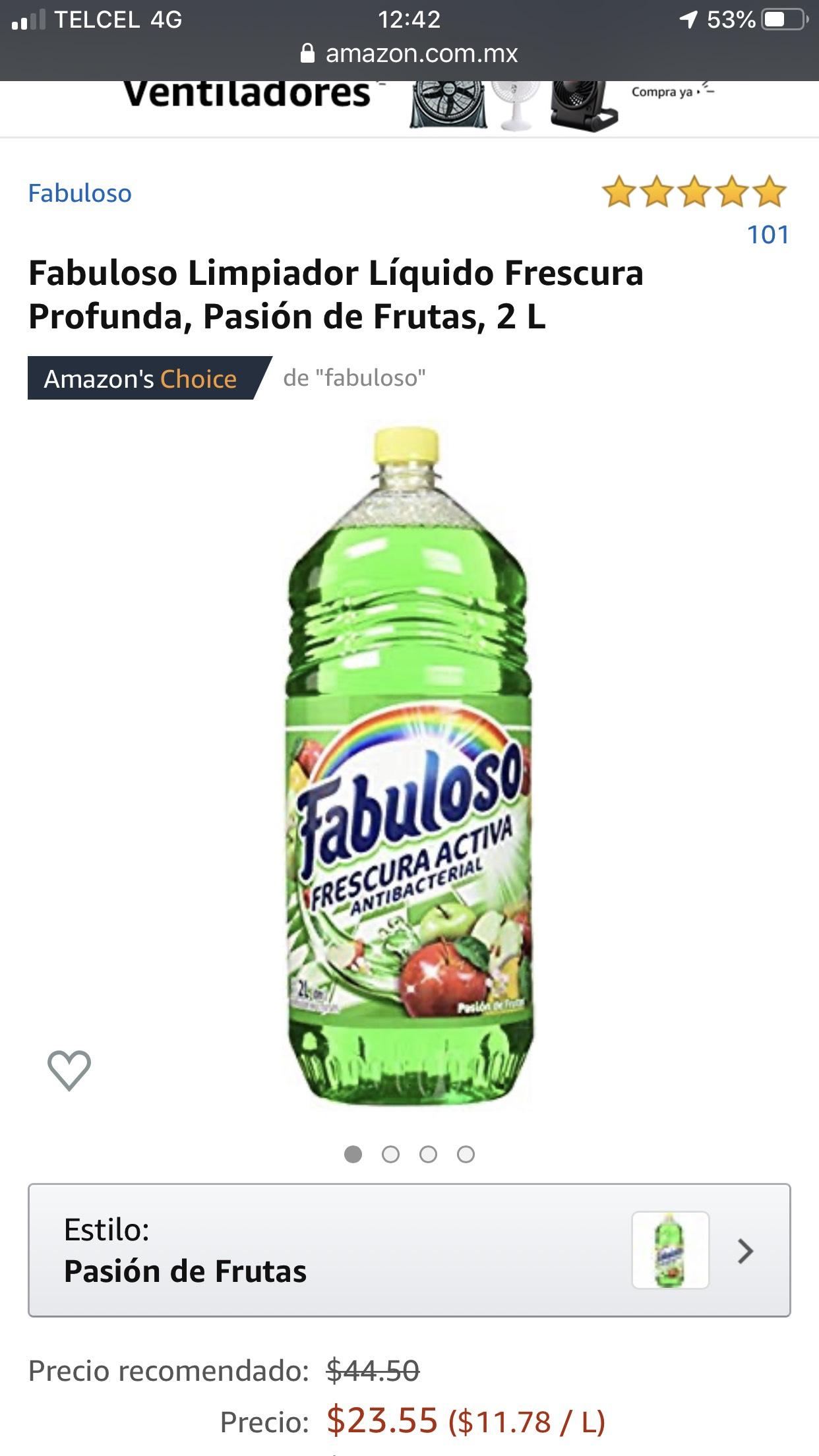 Amazon Fabuloso 2 L Pasión de Frutas comprando 4