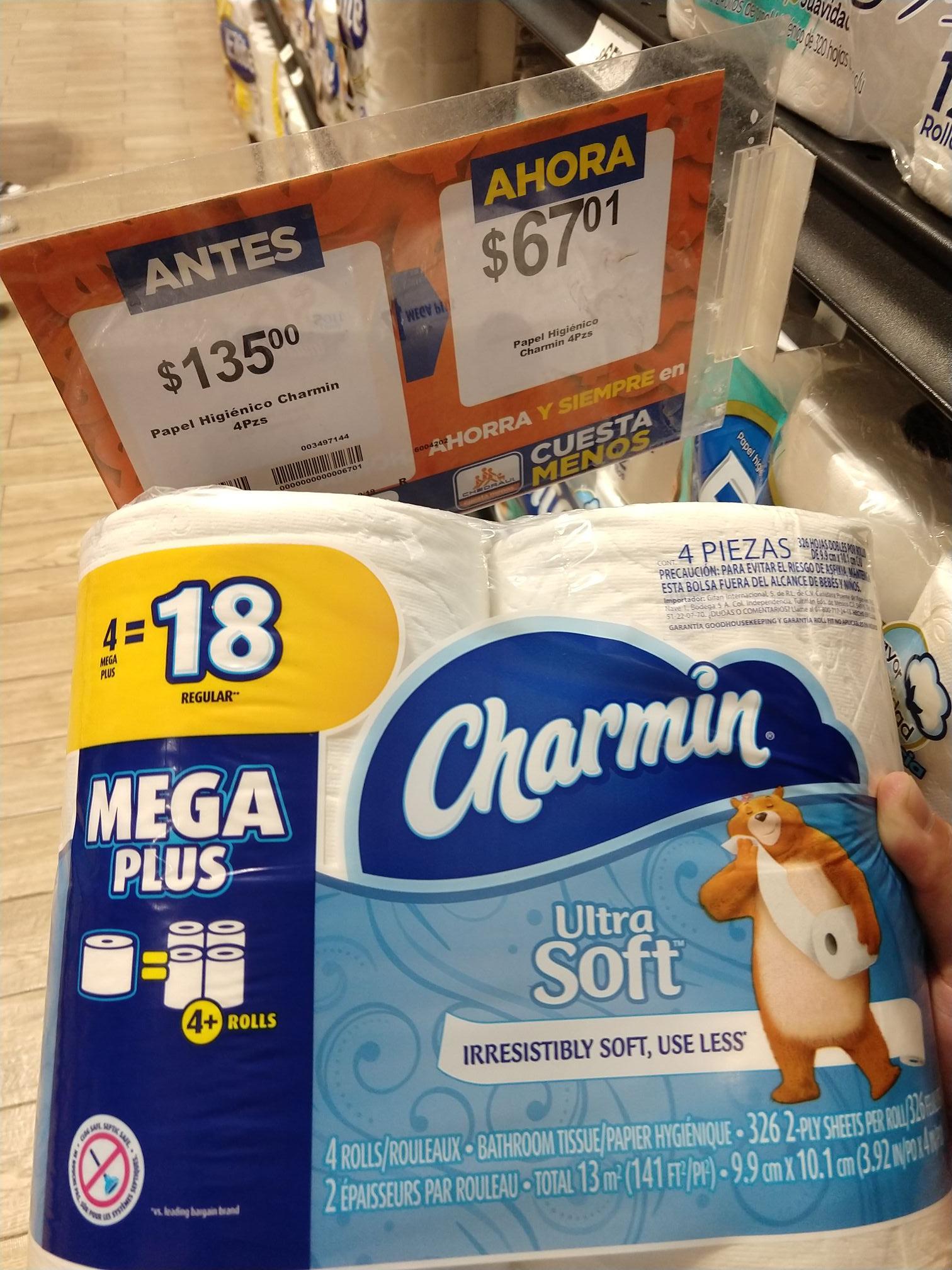 Chedraui CDMX : Papel Charmin Megaplus (4=18)