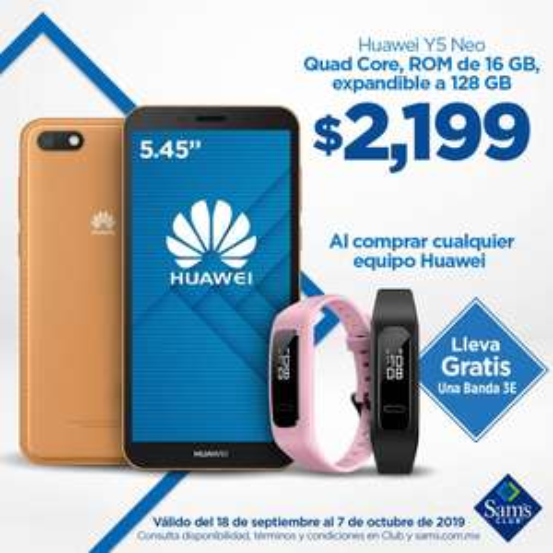Sam's Club: Huawei Y5 Neo+banda 3E