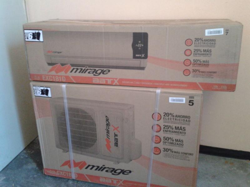 Walmart: Minisplit Mirage 1.5 Ton $4,290.01 de $8,099