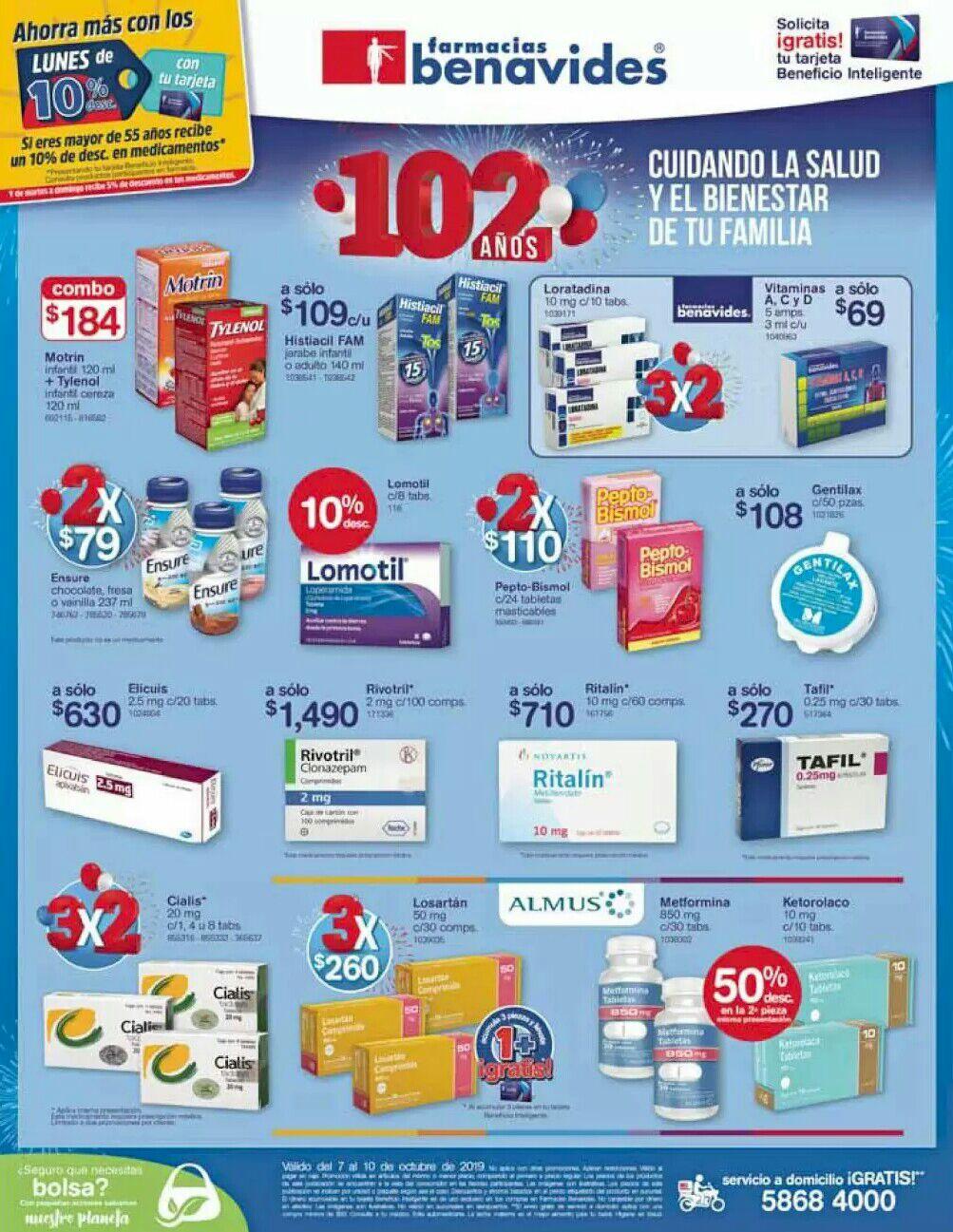 Farmacias Benavides: Ofertas del Lunes 7 al Jueves 10 de Octubre