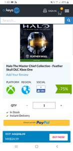 Cdkeys: Halo The Master Chief Collection - Feather Skull DLC Xbox One