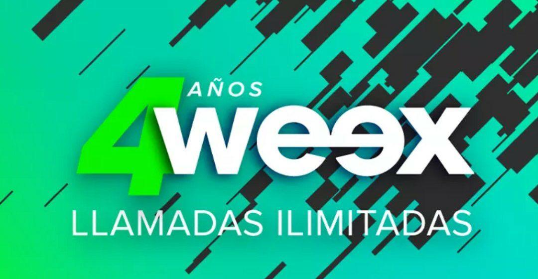 Weex: 30 días de Llamadas ilimitadas a $25