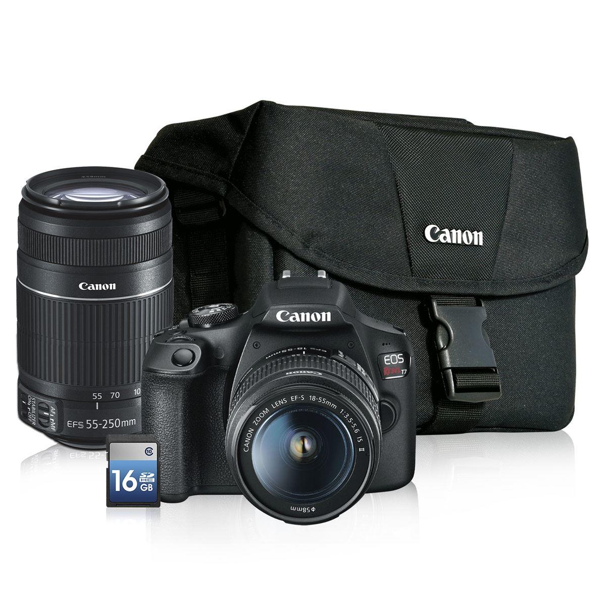Sanborns: Kit Cámara Canon T7, 2 lentes y maletín