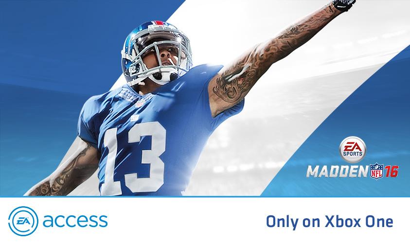 EA Access: Se agrega el 2 de Febrero Madden 16