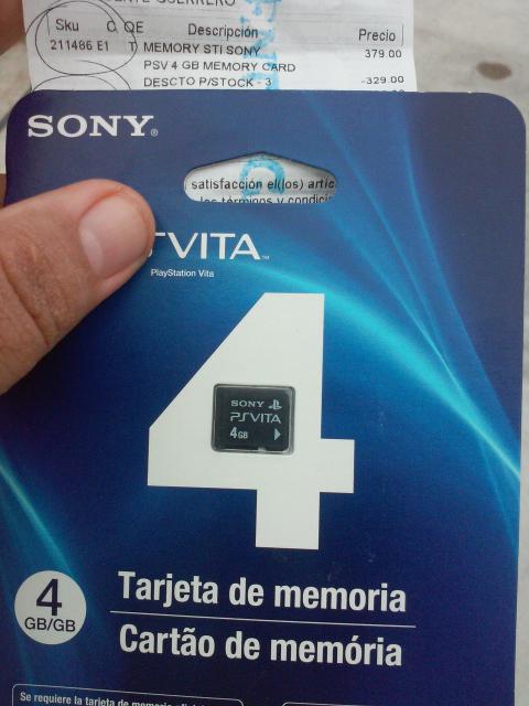 Coppel: Memoria para PS Vita de 4gb a $50