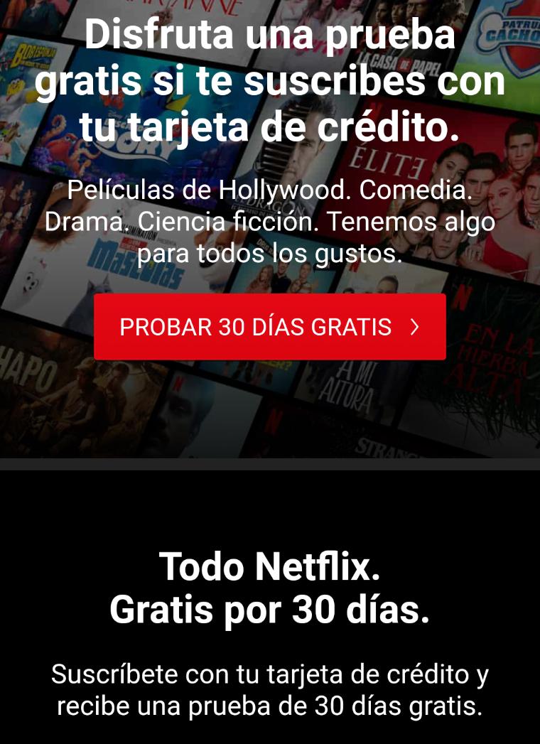 Netflix Gratis 1 Mes 4 dispositivos 4k