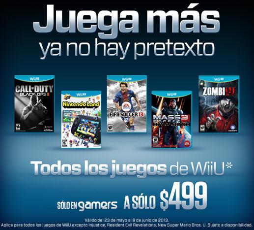 Gamers: WiiU $3,999 y todos los juegos a $499