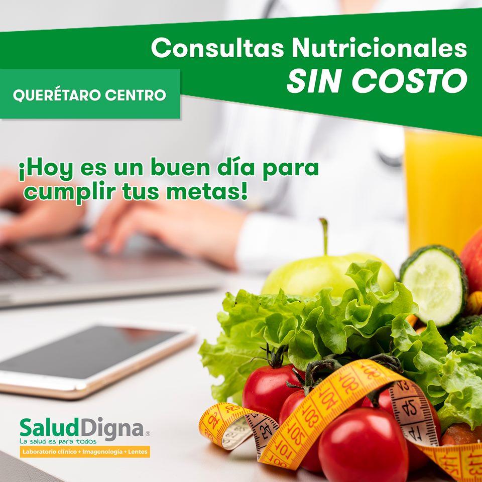 Salud Digna. Consulta de nutrición y otros estudios sin costo
