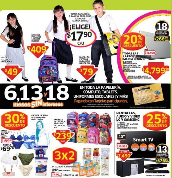 Folleto de ofertas en Soriana del 1 al 14 de Agosto + promos de fin de semana