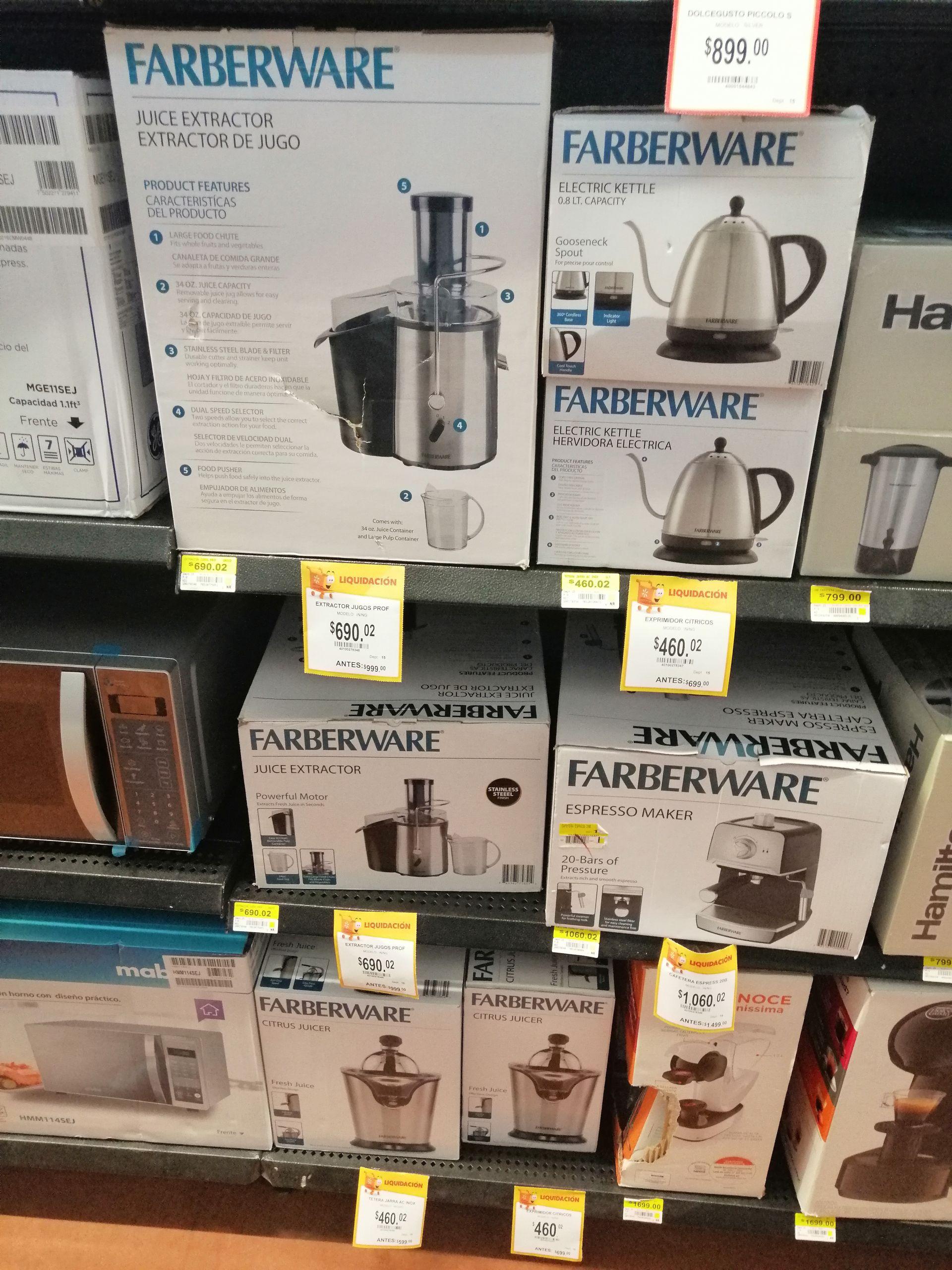 Walmart: Artículos Farberware a mitad de precio exhibido