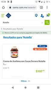 Sam's Club: Nutella 1 kg