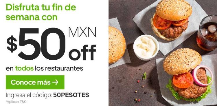 Uber Eats: $50 de descuento en TODOS LOS RESTAURANTES