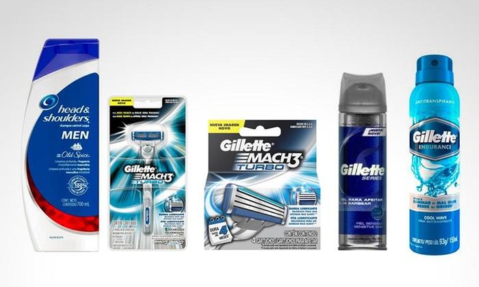 Groupon: Kit de rasurado que incluye desodorante Gillette Mach 3 + shampoo Head & Shoulders. Incluye envío