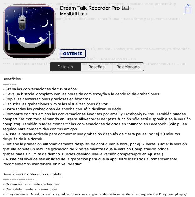 """Oferta en App Store & Google Play: App para grabar mientras uno duerme """"Dream Talk Recorder Pro"""" totalmente gratis"""