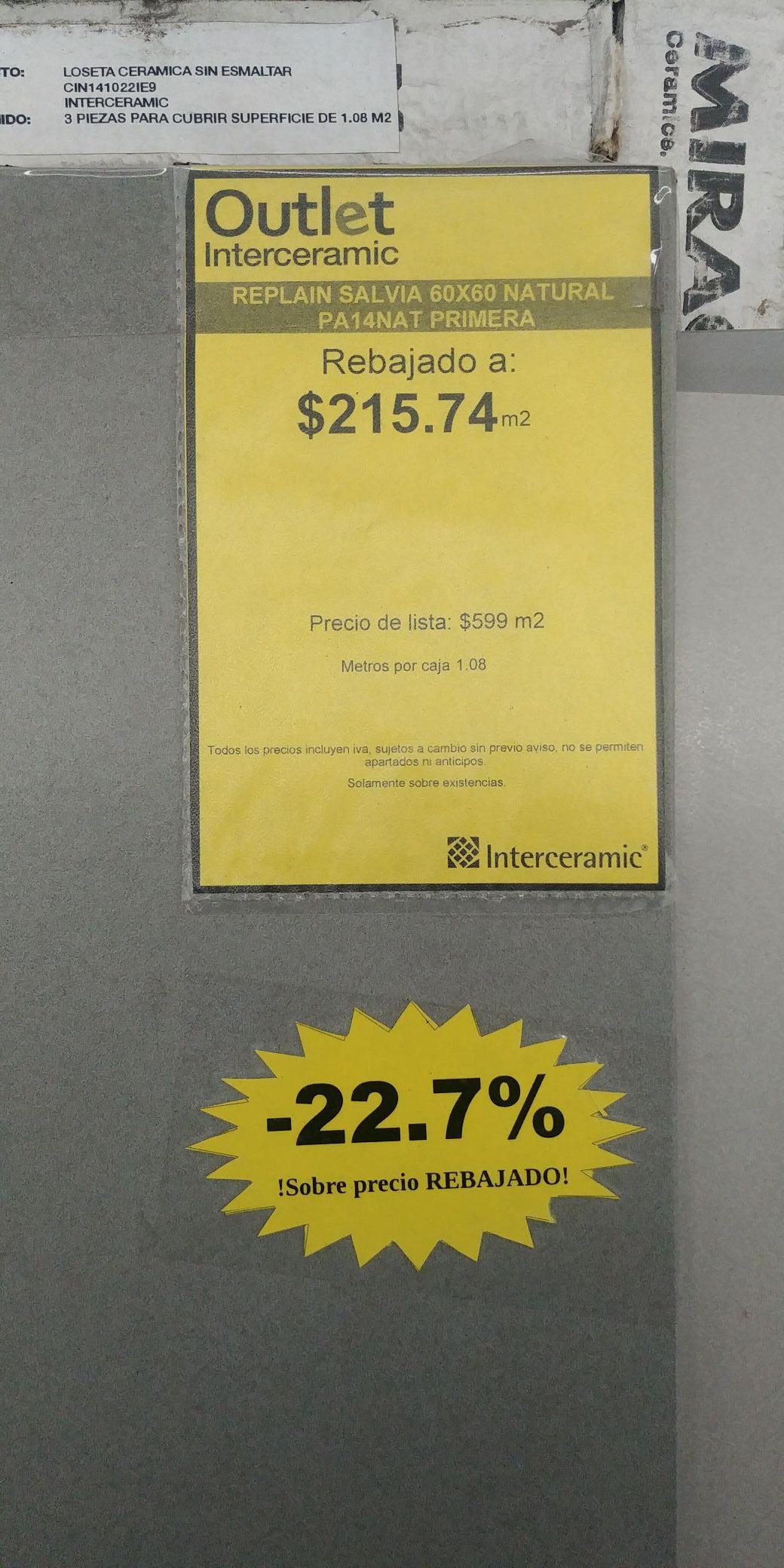 Interceramic Ixtapaluca: Pisos italianos con mas de 70% de descuento