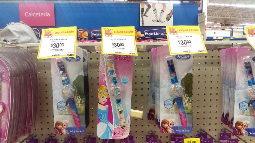 Walmart: Reloj infaltil Disney a $30.03