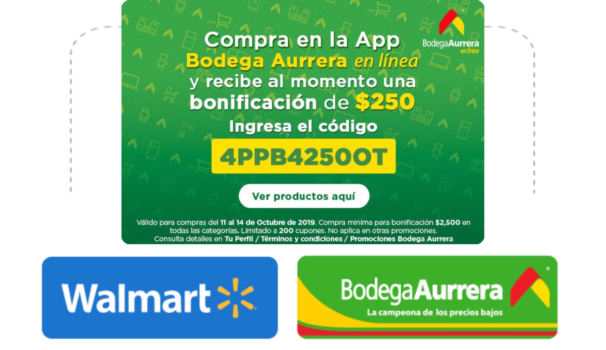 Walmart y Aurrera: Cupón de $250 de descuento en Tecnología