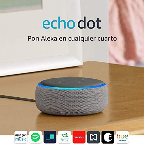 Amazon: Echo Dot (3ra generación) - Bocina inteligente con Alexa, gris oscuro