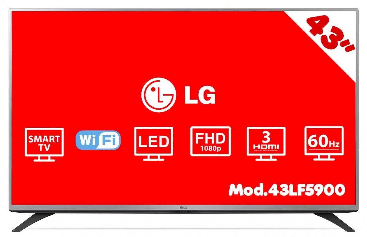 "HEB: Pantalla Smart Tv 43"" LG 43lf5900 a $7,999"