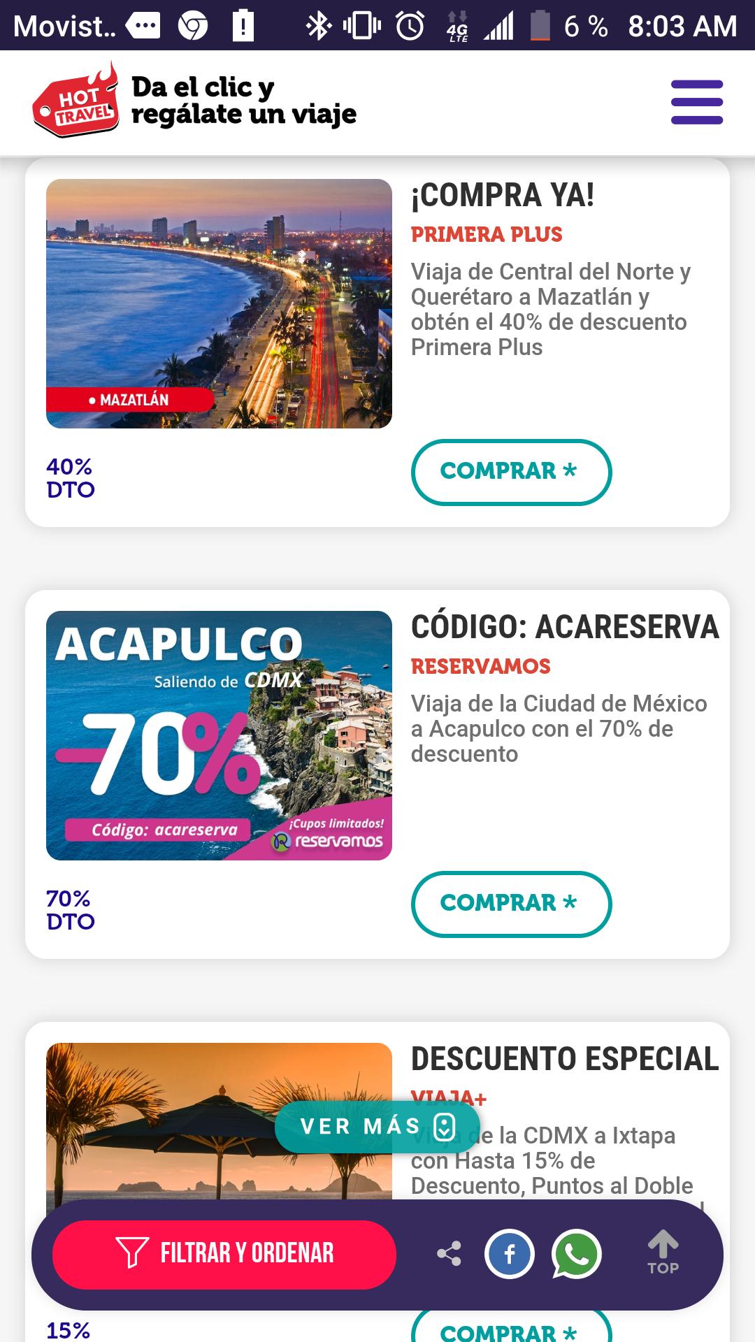 Reservamos: 70% de descuento en traslados de CDMX a Acapulco