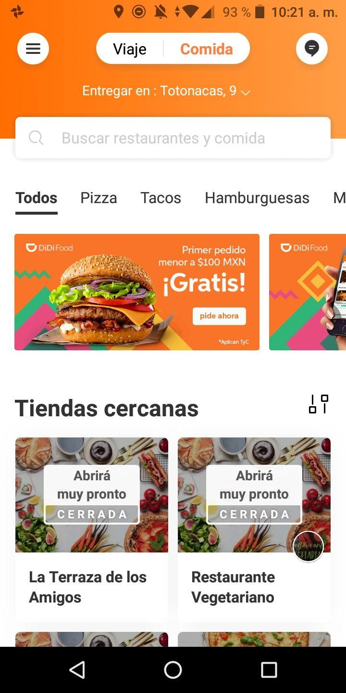 Didi food CDMX + Cupón $100