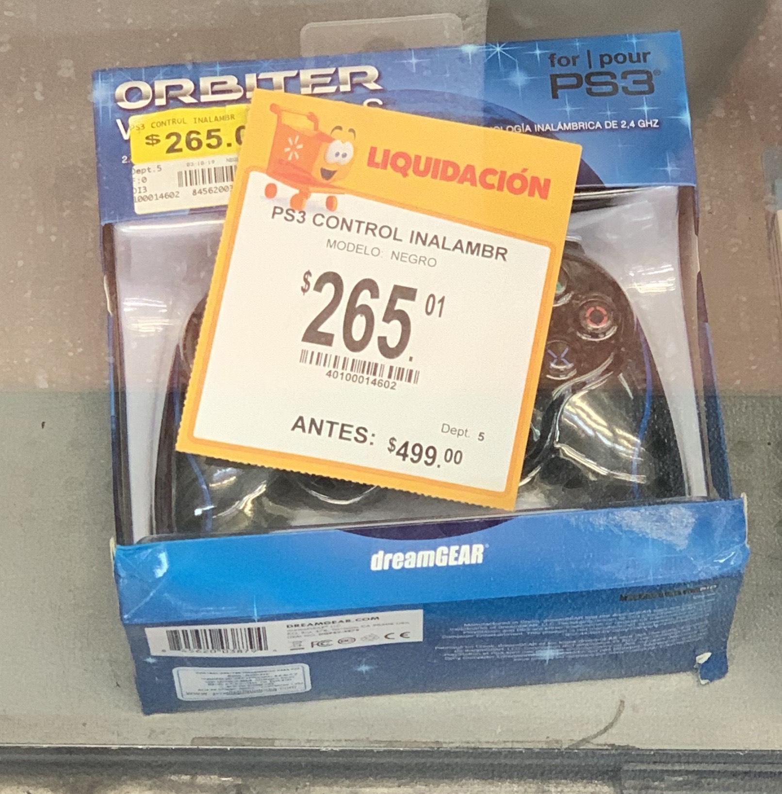 Walmart liquidación Control PS3 inalámbrico