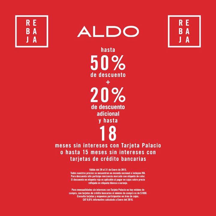 ALDO: hasta 50% de descuento + 20% extra