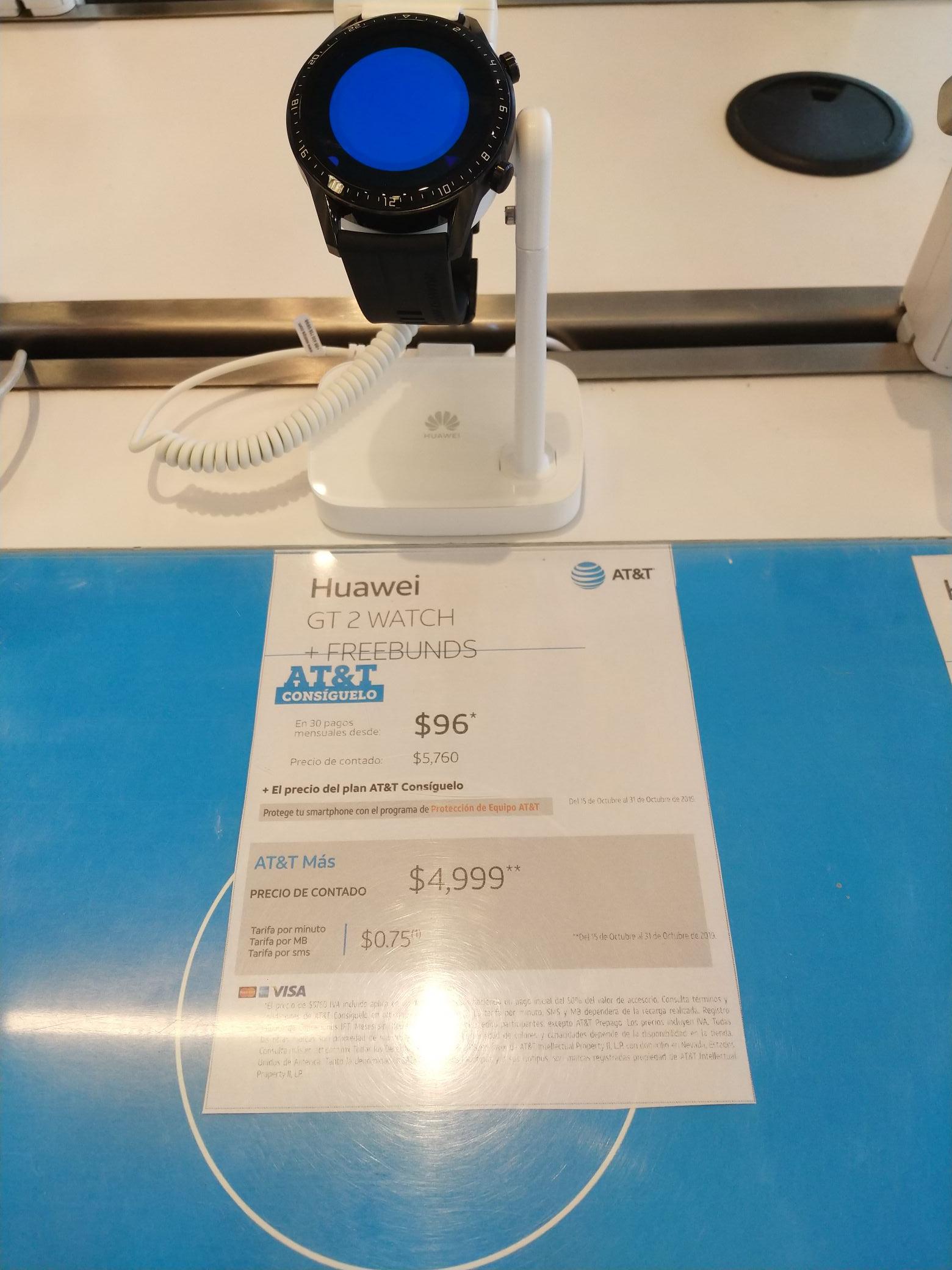AT&T: Huawei Watch GT2+ Freebunds