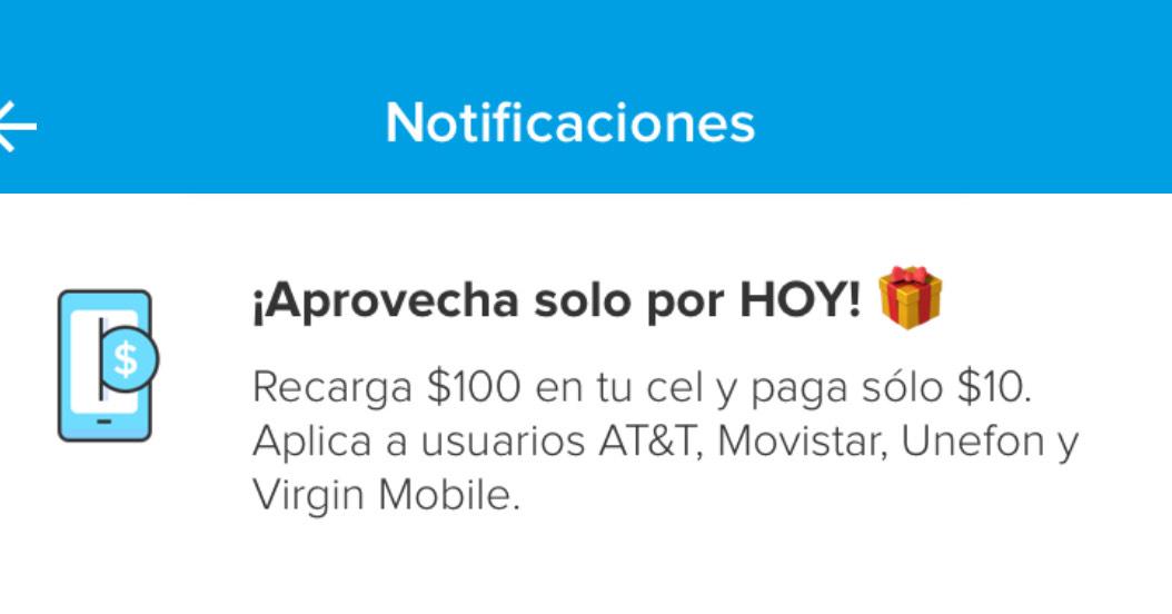 Mercado Pago: recarga $100 y paga $10 (usuarios seleccionados)