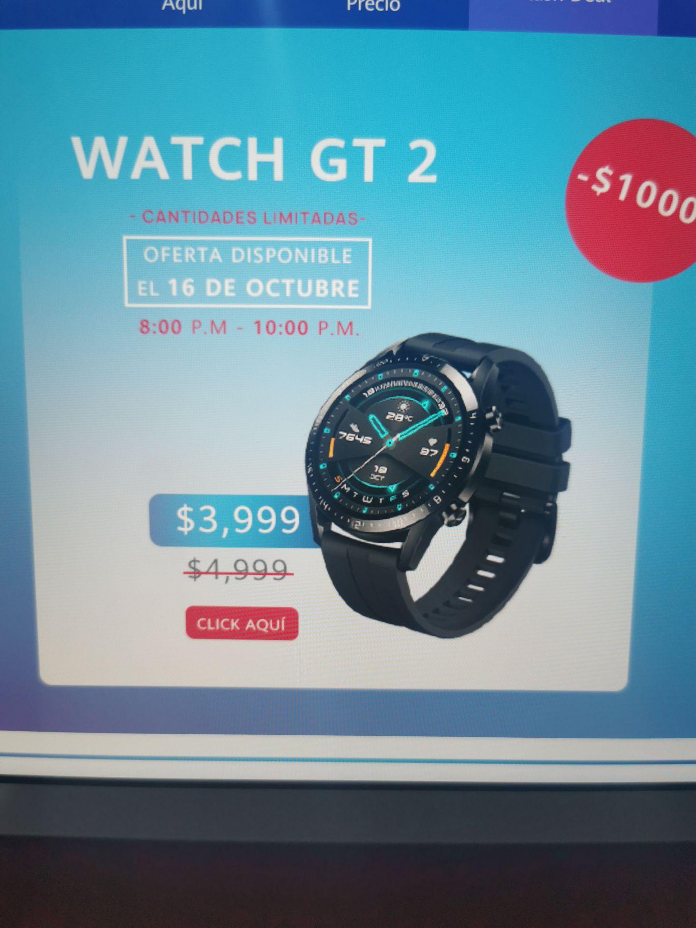 Tienda Huawei Huawei watch gt2 (de 8 a 10pm)
