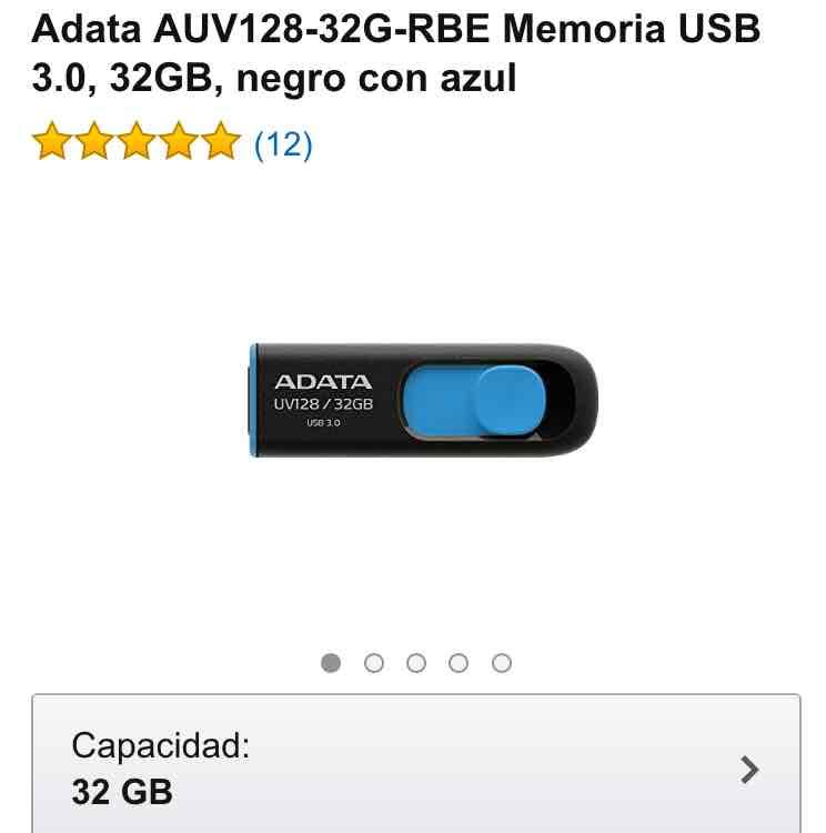 Amazon: Usb Adata 32gb 3.0