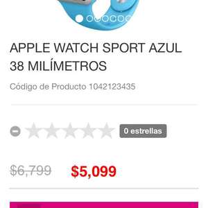 Liverpool: Apple Watch de 38mm a $5,099 y el de 42mm a $5,849 (25% de descuento)