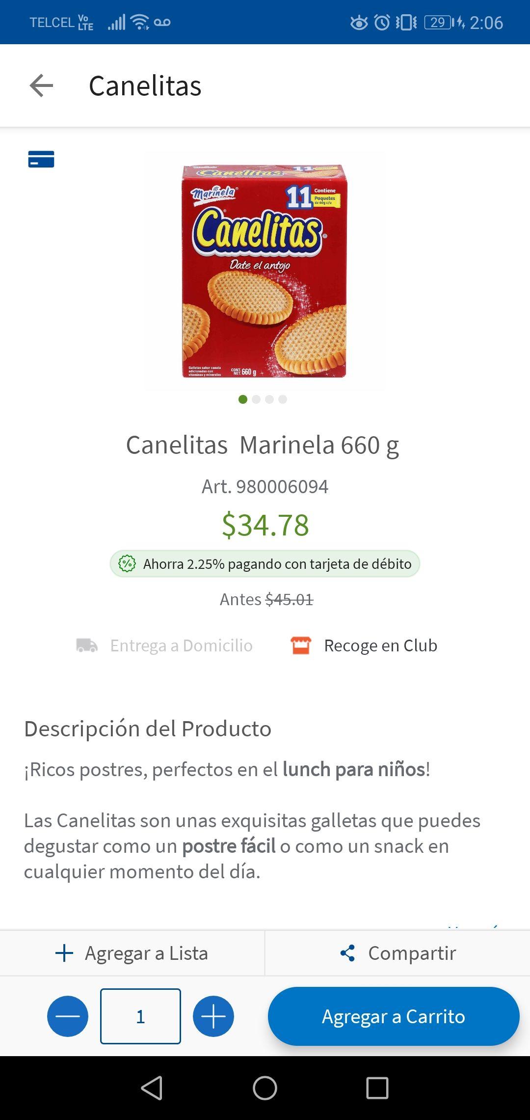 Sam's Club: Canelitas y polvorones a buen precio