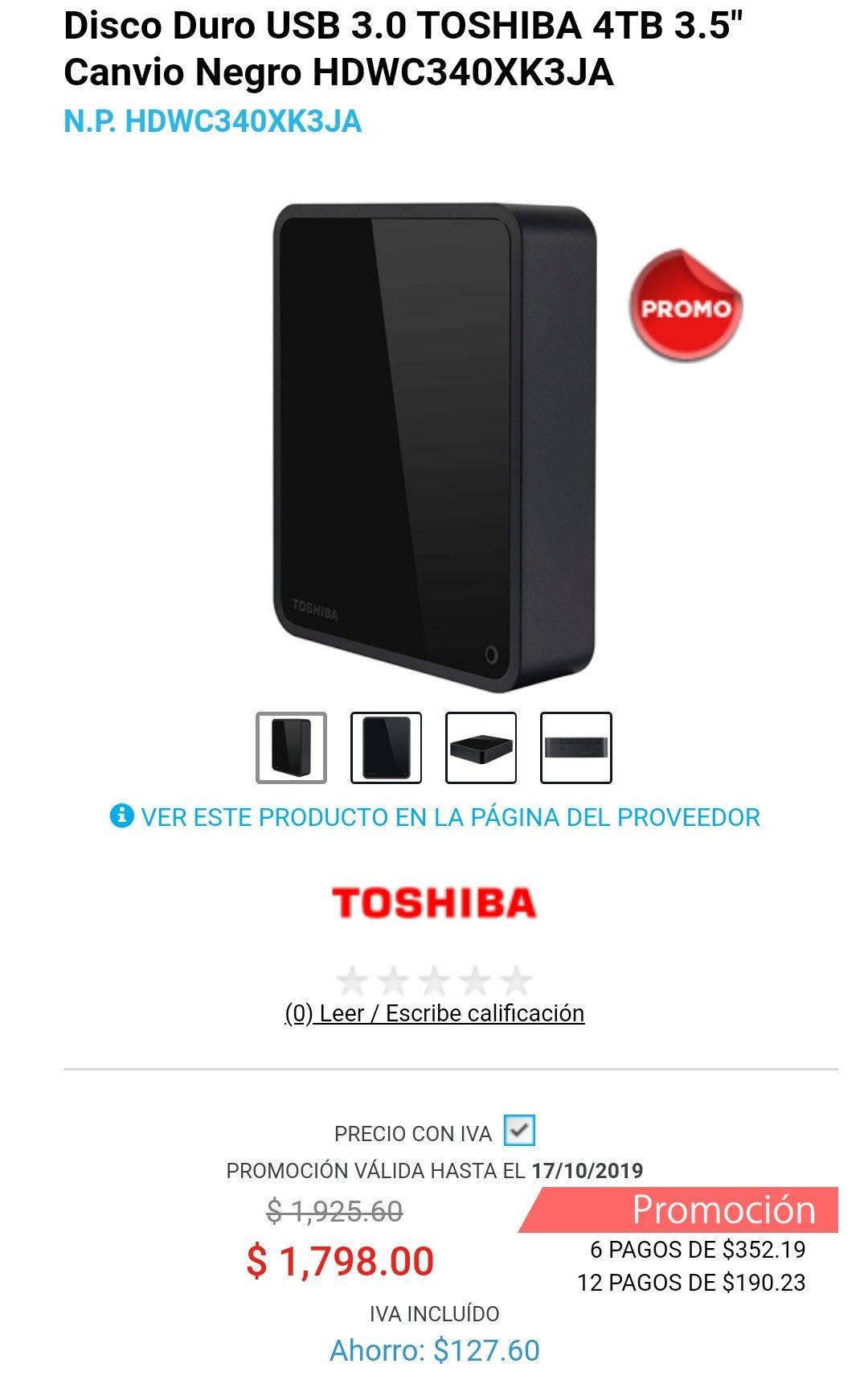 Digitallife: Disco duro TOSHIBA 4Tb, usb 3.0