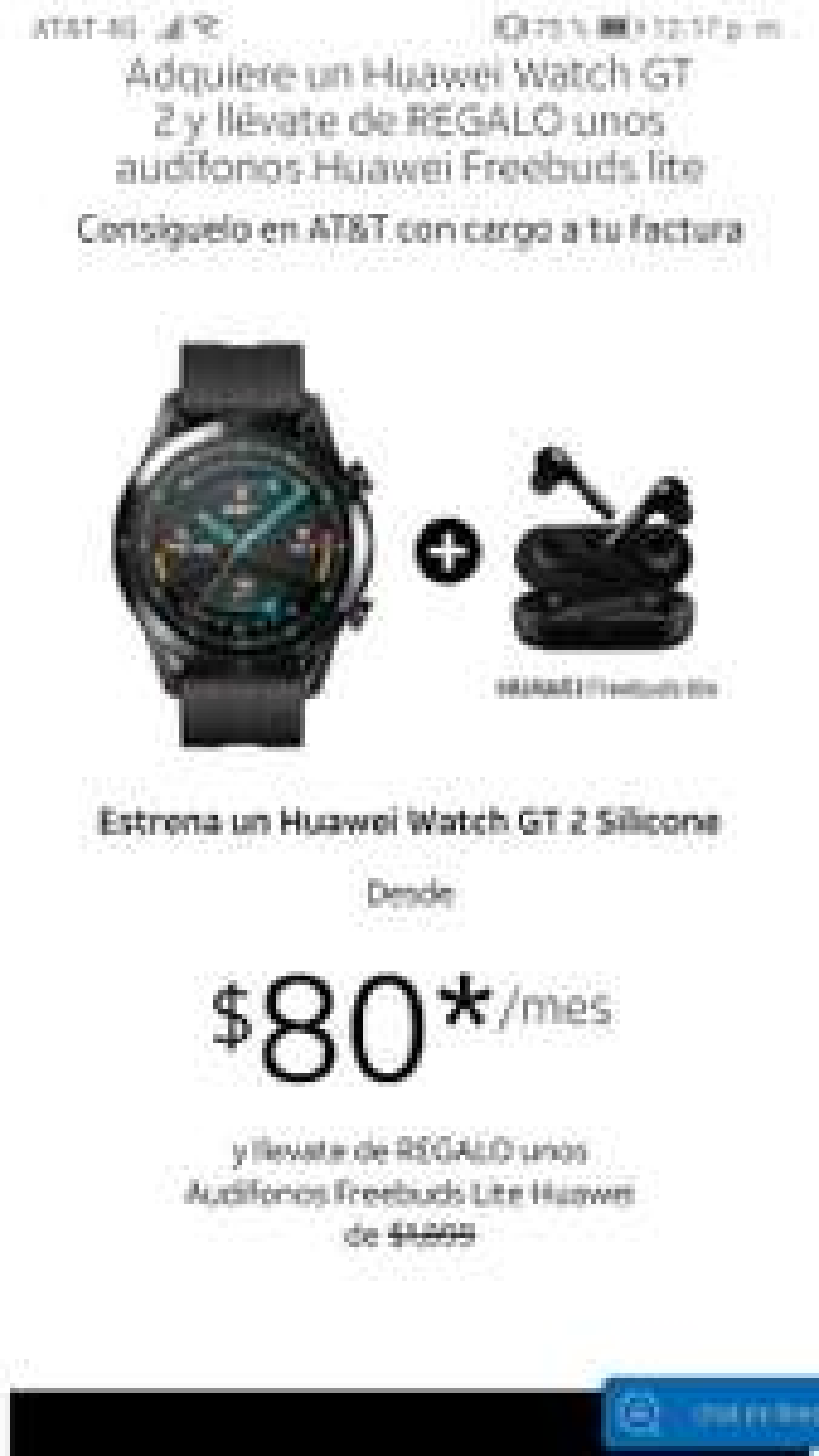 AT&T  Huawei Watch GT 2 + Freebuds lite