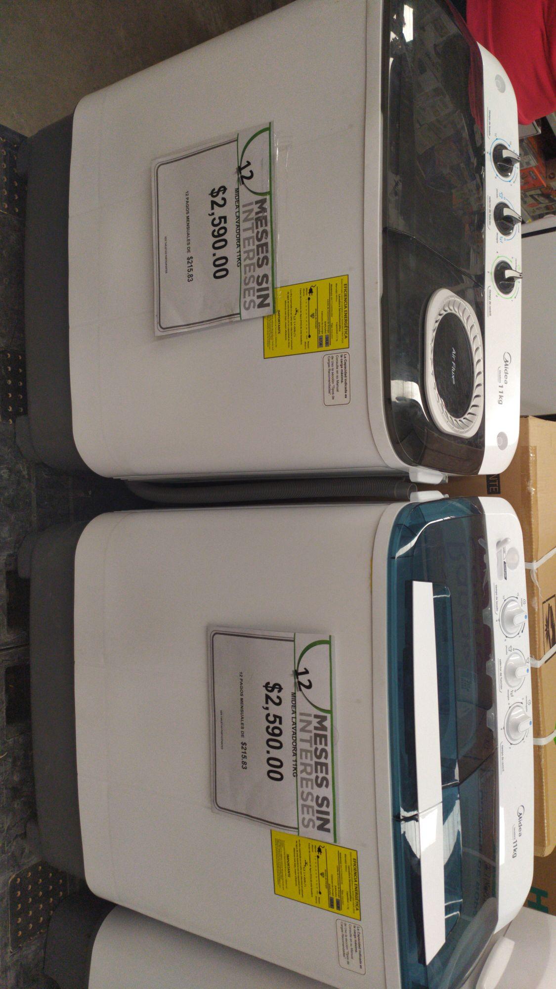 Bodega Aurrera: Lavadoras 11 kg Miidea