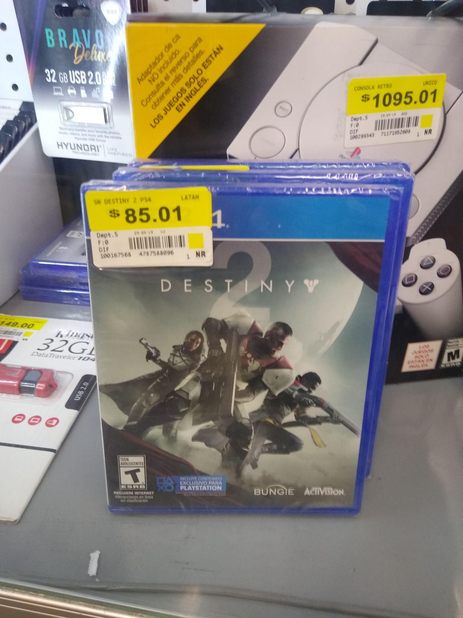 Destiny 2 para PS4 WALMART ANTENAS