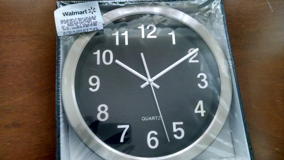 Walmart: Reloj de Pared Acero Inox a $175.03