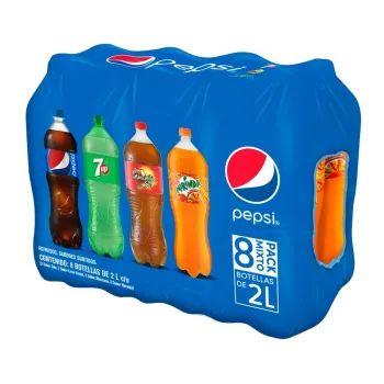 Sam's Club: Refresco Pepsi Mix 8 pzas de 2 L