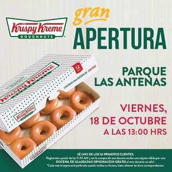 Krispy Kreme  Parque Las Antenas: Donas gratis durante un año