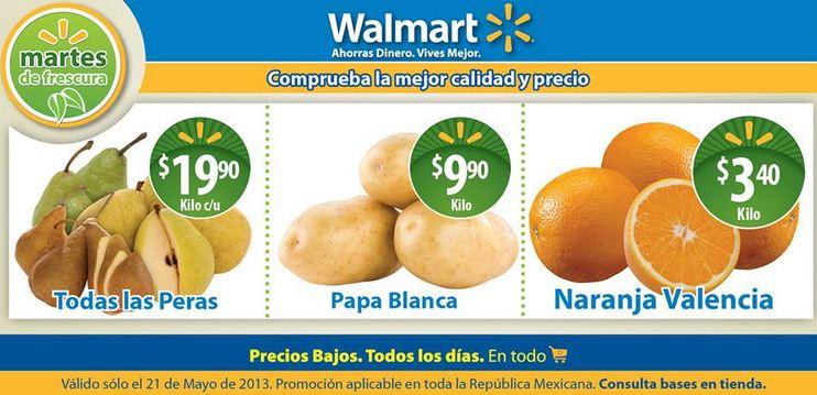 Martes de frescura en Walmart mayo 21: todas las peras $19.90 el kilo y más