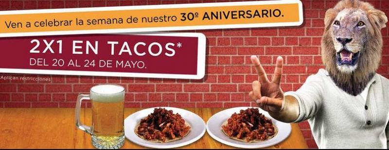 Parrilla Leonesa: 2x1 en tacos