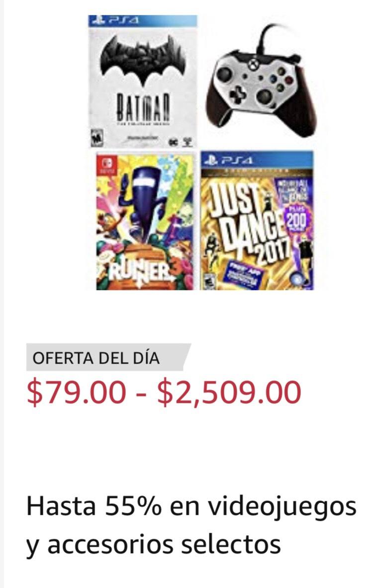 Amazon México: Hasta 55% en videojuegos y accesorios selectos para Switch, PS4, Xbox One y otros.