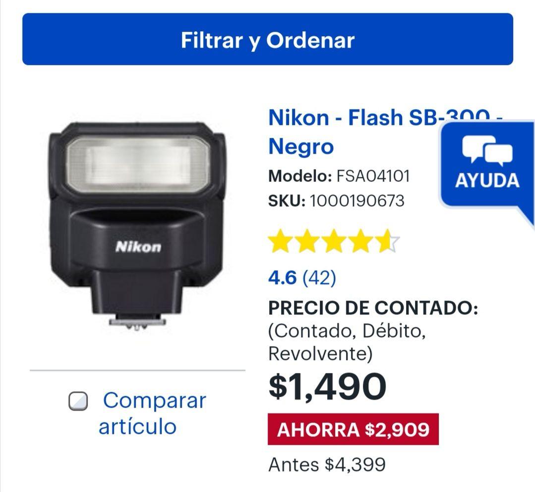 Best Buy: Flash Nikon sb 300, buen precio
