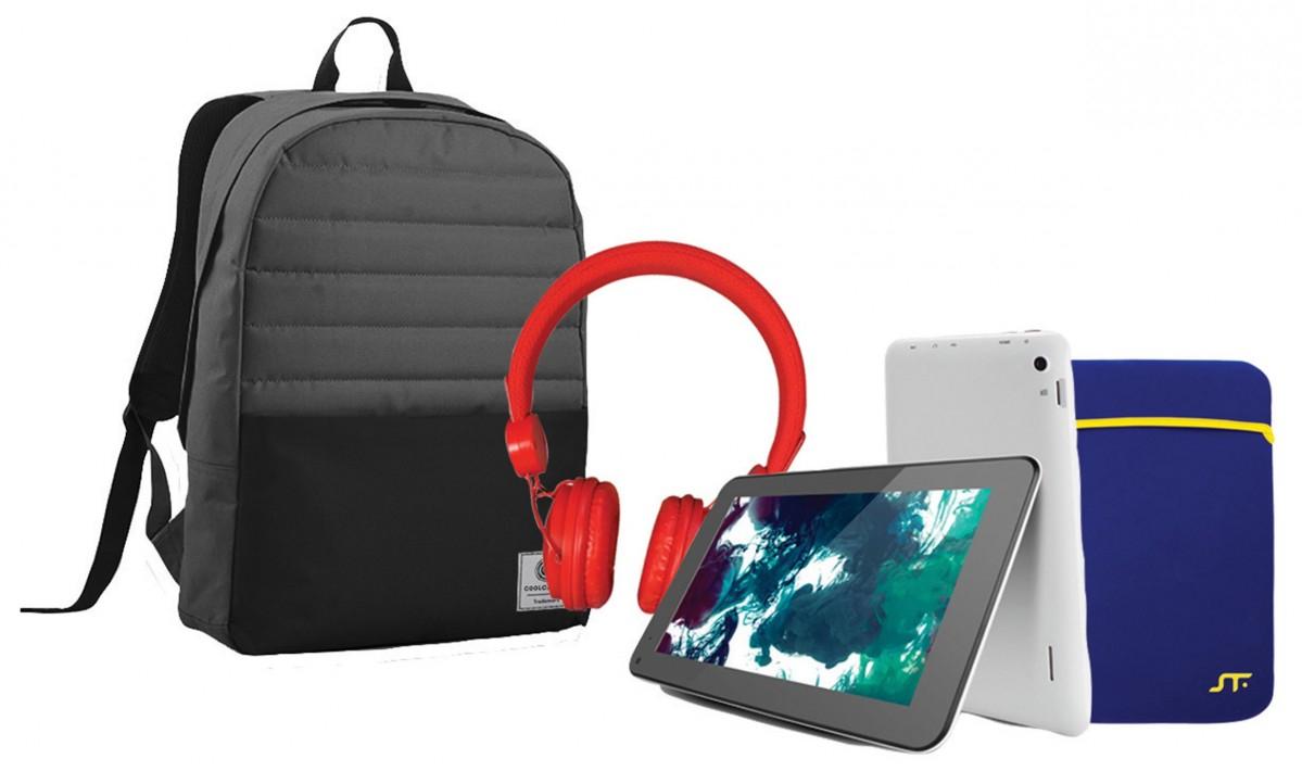 HEB: Bundle Mochila + Tablet + Audifonos + Funda 7.8 pz a $999
