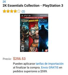 Amazon: 2k essentials collections para PS3