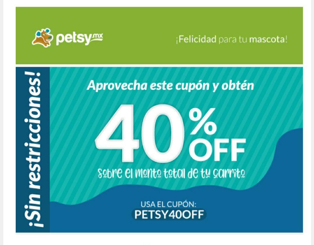 Petsy: 40% en toda la tienda