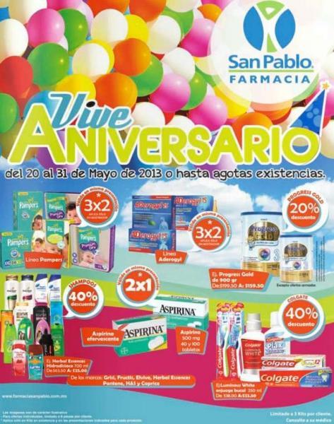 Aniversario Farmacia San Pablo (actualizado con más ofertas)