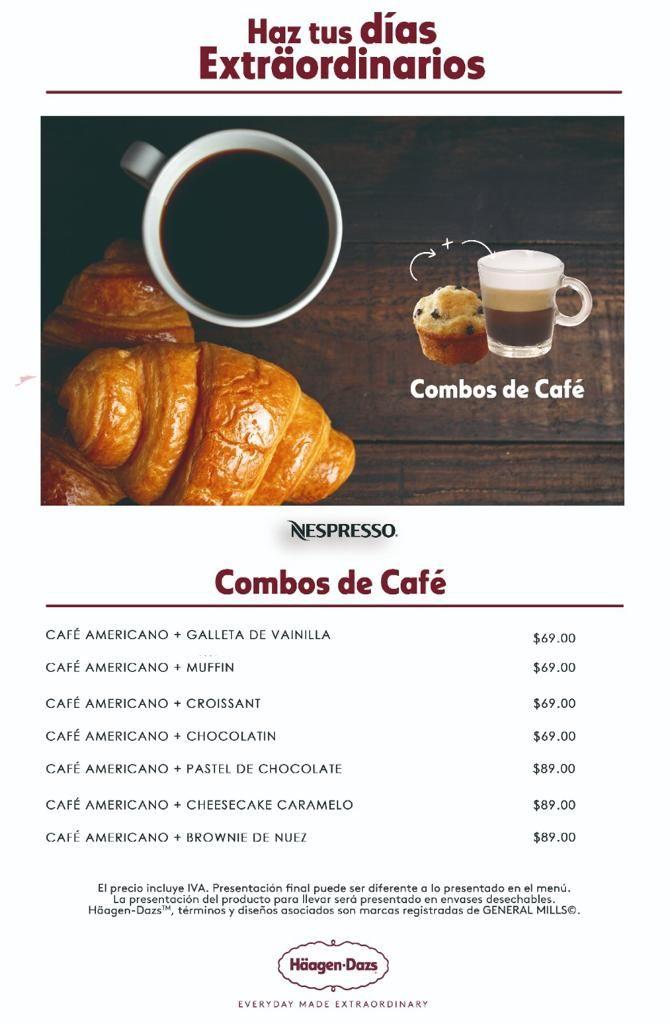 Häagen Dazs  Promoción de Café con Repostería